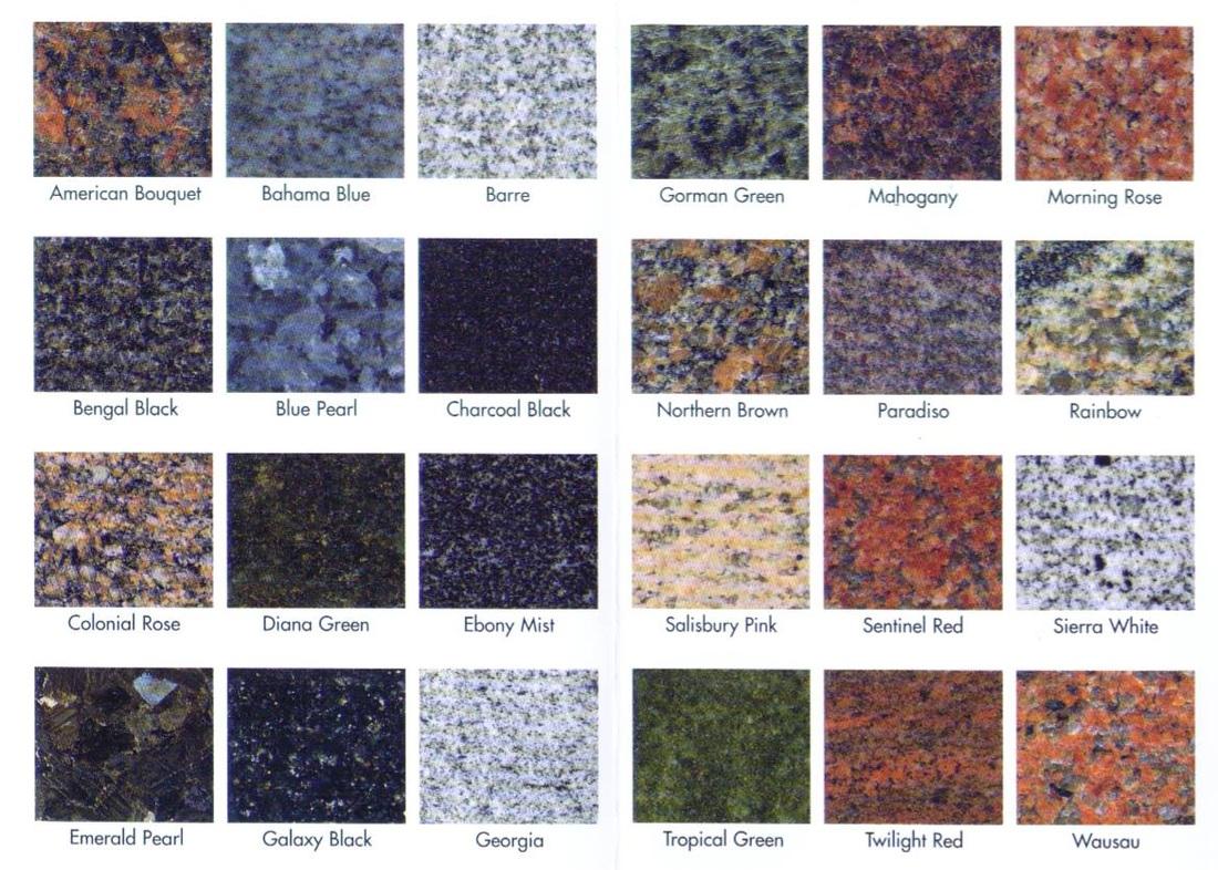 Granite, Quartz Colours & Edge Profiles - Precision Marble ...